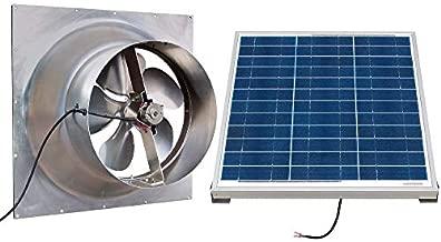 Solar Powered Attic Fan - 24 Watt Gable Exhaust Vent - Natural Light