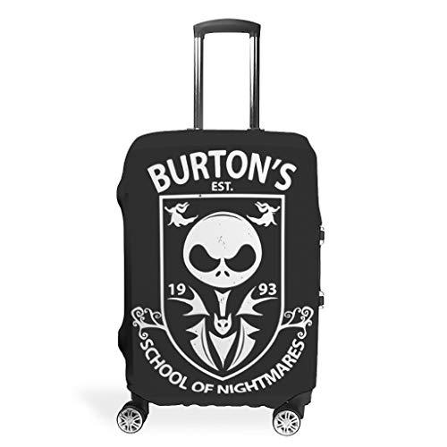 VVEDesign Travel Luggage Cover Fashion Spandex Luggage Cover Protector Dust-proof Luggage Protector Burton's School of Nightmares Printed white m(22-24 inch)