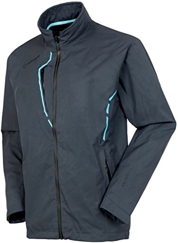 Great Deal! Sunice Apollo Gore-TEX Waterproof Performance Jacket Charcoal/Blue Water Large