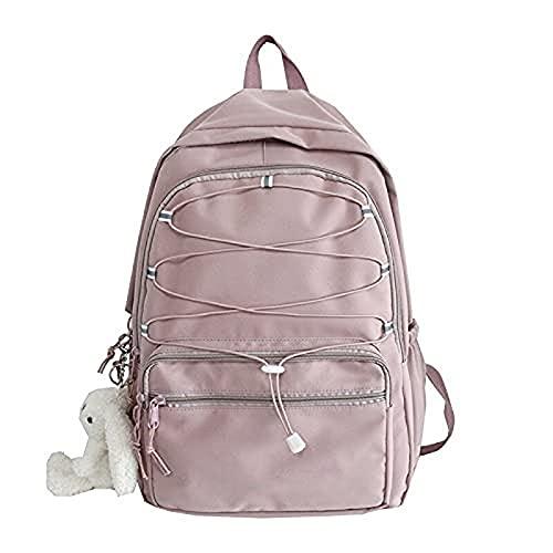Reflektierender Gürtel Damen Nylon Rucksack wasserdichte weibliche Schulbuchtasche Mädchen weibliche Studentin weiblicher Reiserucksack