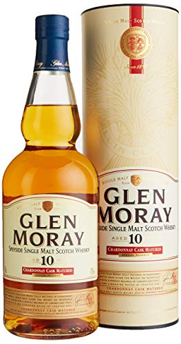 Glen Moray 10 Years Old Chardonnay Cask Special Reserve mit Geschenkverpackung Whisky (1 x 0.7 l)