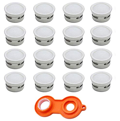 Queta 16 piezas Filtro grifo Aireador de Grifo Repuesto Accesorios de grifo Grifo Filtro de Burbujas Difusor Filtro grifo Exterior Grifo Recambio para M22 y M24 Con llave Para Cocina y Baño