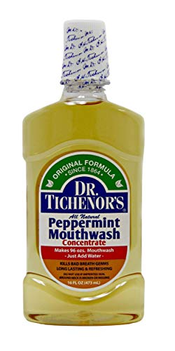 Dr. Tichenor's All Natural Peppermint Mouthwash, 16 oz (Pack of 2)