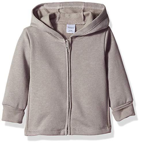 Hanes Ultimate Baby Zippin Fleece Hoodie, Dark Grey, 6-12 Months