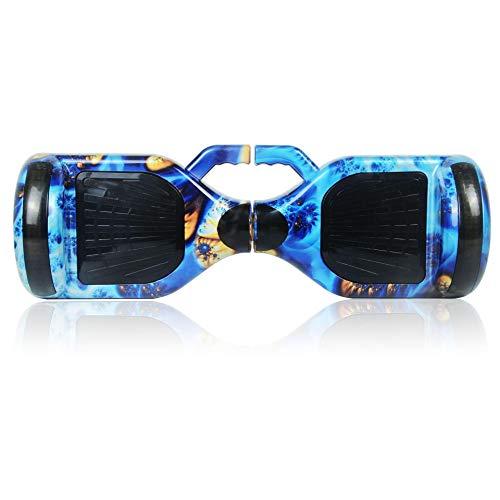 ZHEBEI Eléctrico inteligente de dos ruedas adulto todoterreno movilidad somatosensorial vehículo 10 pulgadas rueda luminosa con carpa bluetooth azul Phoenix