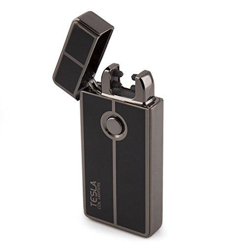 Tesla Coil Lighters USB Rechargeable Windproof Dual Arc Lighter (Gun Metal)