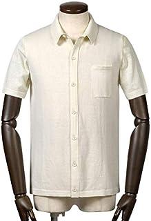 ロベルトコリーナ roberto collina / 19SS!ドライコットンハイゲージ半袖ニットシャツ『RA10025』 (ECRU/オフホワイト) メンズ