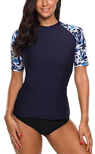 beautyin Short Sleeve Rashguard for Womens Surf Swimsuit Sun Protection Shirts