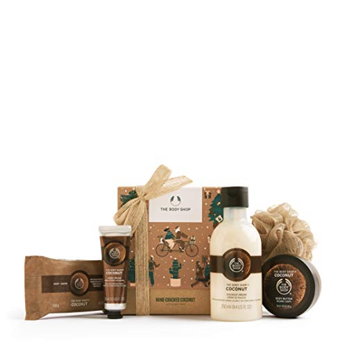 The Body Shop Coconut Festive Essentials Body Butter Soap hand cream shower Cream Gift SET