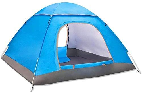 SAIYI Fully automatic outdoor tent Single-layer tent 2People's anti-storm rain double camping tent , festival essential, dome Tent, 100% waterproof with sewn in groundsheet,200 * 200 * 145cm