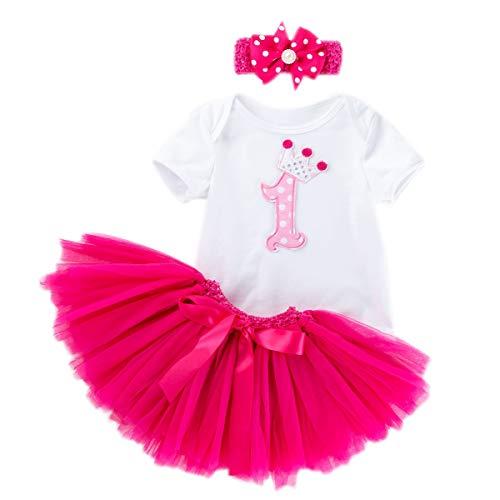 Rose Gâteau d/'anniversaire floral rose body rose robe bébé fille Pettiskirt nb-18m