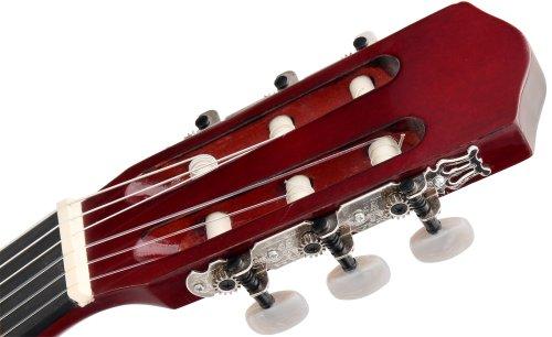 Classic Cantabile AS-851 4/4 Konzertgitarre Starter Set (Komplettes Anfänger Set mit Klassik Gitarre, Gigbag Tasche, Nylonsaiten, Lehrbuch/Schule inkl CD und DVD, 3x Plektren und Stimmpfeife) - 9