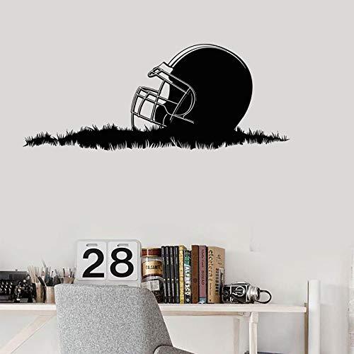 Wenn Sie streuen, wenn Sie klingeln Wandaufkleber Stolz American Football Helm Gras Schüssel Tasse Garantiert Startseite Jungen S Wohnzimmer Firma Schule Büro Wandbild Tapete Wandkunst 57X23Cm