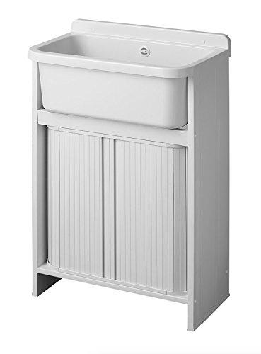 Orazio - Mueble lavadero ahorra espacio de resina,55x 35cm