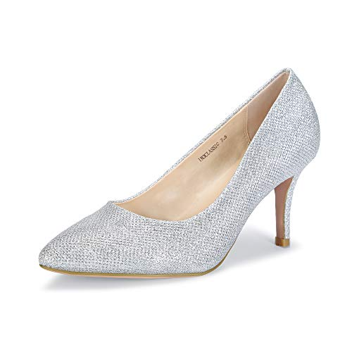 IDIFU Women's Classic High Heels Dress Wedding Pumps Closed Pointed Toe Prom Party Shoes