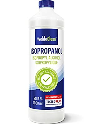 Rubbing Alcohol for Cleaning 99,9% Isopropyl - 1.000ml Cleaner from WoldoClean