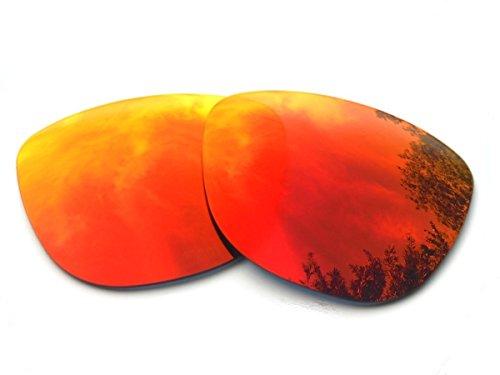 GALAXYLENSE Lentes de reemplazo para Oakley Frogskins para hombre o mujer 54x1.5x43 mm Regular Rojo