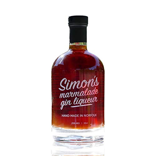 Orange Marmalade Flavoured Gin Liqueur 50cl by Simon's Table (ABV 25% Alcohol) – Premium, Small Batch British Gin Liqueur, Infused with Seville Oranges – Handmade & Distilled in Norfolk