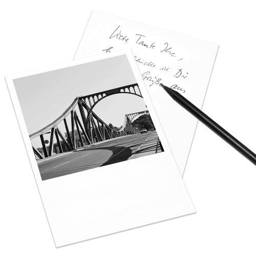 10er-Set Postkarte Potsdam im Polaroid-Look - DIN A6 Hochformat - Motiv: Glienicker Brücke