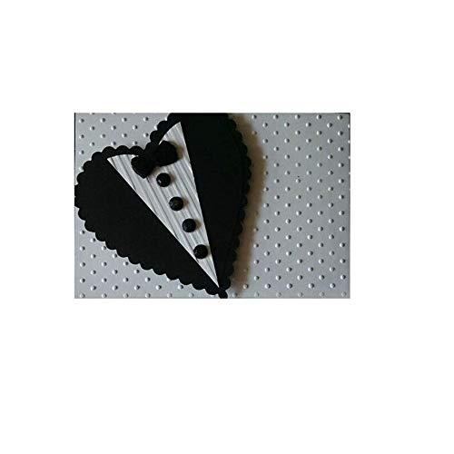 Jilibaba Stanzformen aus Metall, Prägeschablone, Vorlage, Herz-Krawatte, für Bastelarbeiten, Kartenherstellung, Fotoalbum, Dekoration, Geschenk