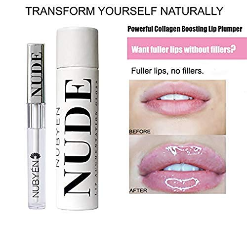 Powerful volumizing oogmentation Plumping Serum Lip Gloss formule by een team van doctors Natural Chilli Cinnamon Safe Reversible als alternatief voor lip fillers 1.83 oz