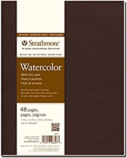 Strathmore 483-7 400 Series Softcover Watercolor Art Journal, 7.75