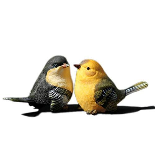 Figuras de Resina pájaros Decorativos Figuras de Animales en Miniatura para la decoración del jardín El hogar Bonito,B