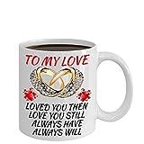 Los mejores regalos para la esposa Esposo Amante Prometido Novio Cumpleaños Aniversario de bodas Padres Familia Compromiso romántico Mujeres Ella - Taza de café mágica que cambia de color - Regalo par