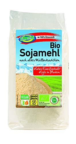 Harina de soja austriaca ecológica austríaca, sin gluten 1,75kg Bio biológica, procedente de soja orgánica de Austria sin OMG, tostada y deshidratada 7x250g