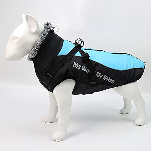 Galatée Cappotto Per Cani, Giacca Impermeabile Per Animali Domestici Antivento, Cappotto Invernale Per Cani Con Fodera In Pile e Strisce...