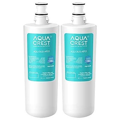 AQUACREST 3US-AF01 Under Sink Water Filter, Compatible with Standard Filtrete 3US-AF01, 3US-AS01 Water Filter (Pack of 2)