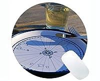 円形のマウスパッド、魔法の海上ゴム製円形のマウスパッドが付いている地図の賭博