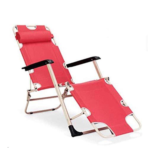 AWJ Sillón reclinable Zero Gravity, Tumbona con Almohada extraíble, sillas reclinables para Interior Tumbona de jardín con Respaldo Ajustable para Oficina, Almuerzo, sie