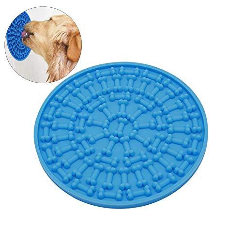 ASOCEA Hunde-Badewanne aus Silikon, langsame Fütterung, Abwaschvorrichtung mit Saugnapf und Stoßstange, für das Baden