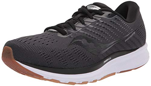 Saucony Women's Ride 13 Running Shoe, Black/Gum, 7.5