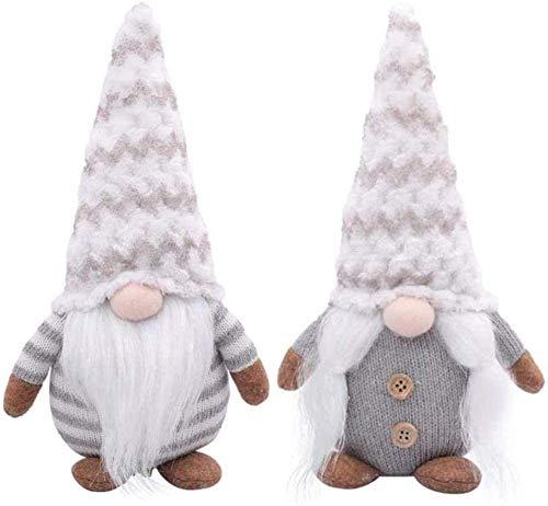 Hilif Christmas Gnomes Muñeco de Santa tejido de felpa, hecho a mano Navidad Gonk Dwarf Elf Figurines Decoración de mesa, Hogar Hogar Muñecas sin rostro Regalos Adornos, Decoración Navideña