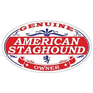 US Decal, Inc. American Staghound Oval Sticker 3
