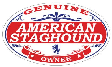 US Decal, Inc. American Staghound Oval Sticker 1