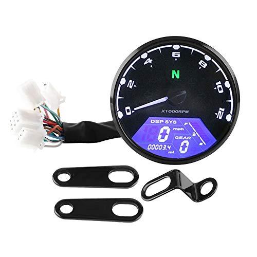Tachymètre numérique compteur de vitesse compteur kilométrique 12000tr/min moto rétro-éclairage LED