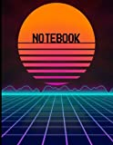 Retro Vintage Tron Arcade Notebook: 120 Pages / College Rule / 8.5 x 11 / Matte Finish