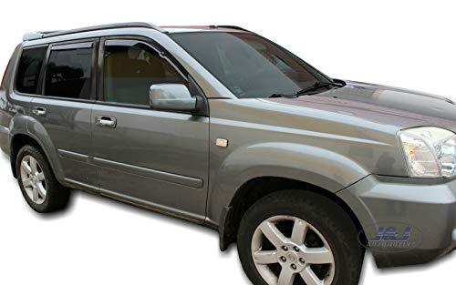 J&J Automotive - Deflectores de viento para Nissan X-Trail T30 2001-2007 (4 unidades)