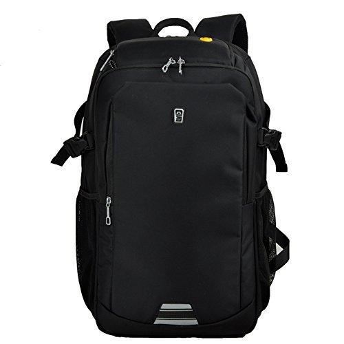 Sinpaid Realizzato in zaino da business laptop del Oxford Businessbook impermeabile Daypack Bookbag, Durable Camping o zaino da escursione (19inch, nero)