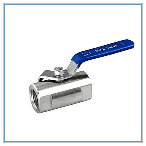 HLY Trading SS304 - Válvula de bola hembra roscada 1/4 3/8 3/4 1 1-1/4 pulgadas (especificación: 1 pulgada)