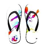 Sandales unisexes minces à bascule,Joueur professionnel de football de cha, Tapis de yoga Flip Flops plage confortable bracelet en cuir avec légère en EVA Sole Taille S