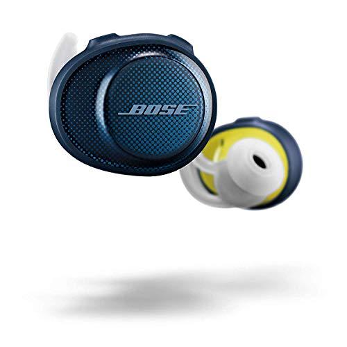 BOSE SoundSport Free Truly Wireless Sport Headphones - Midnight Blue/Citron (Renewed)