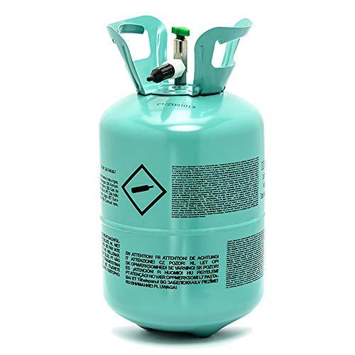 DekoHaus Bombona de helio para 30 globos, globos de papel de aluminio, fiesta de gas