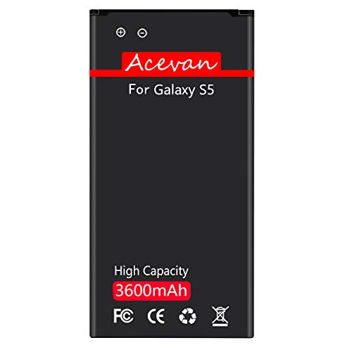 Galaxy S5 Battery Acevan 3600mAh Battery Replacement for Samsung Galaxy S5, Verizon G900V, Sprint G900P, T-Mobile G900T, AT&T G900A, G900F, G900H, G900R4, I9600