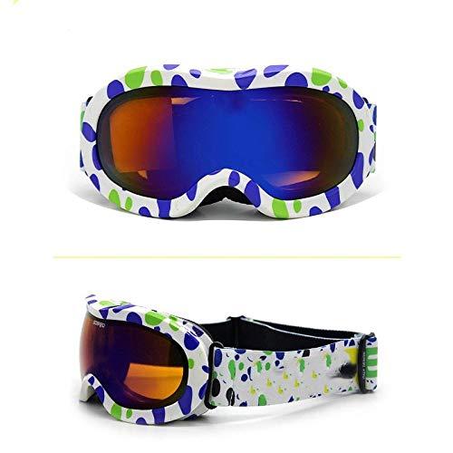 Generieke skibril, spiegelende kinder-skibril, dubbele montage, winddicht, kinderskibril
