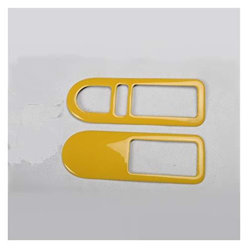 CMQA Cubierta para consola central de coche, color amarillo, para el desgaste de la puerta, placa de cambios, pegatina para volante, para VW Beetle 2003-2012 (tamaño: H)