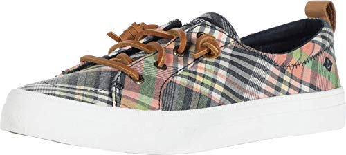 Sperry Women's Crest Vibe Washed Plaid Sneaker, Plaid, 9.5 M US -  STS84920-996-9.5 M US